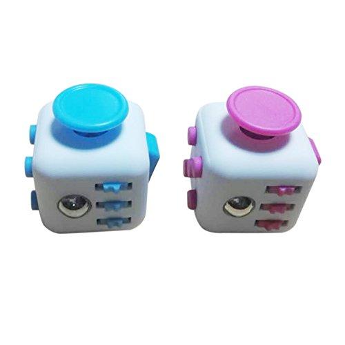 LoveFidget Fidget Cube (Set of 2), (Pink and Sky Blue)