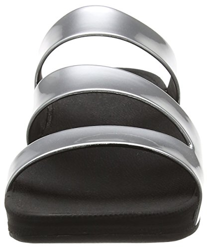 Mujer Twist Plateado Mirror Superjelly Silver Fitflop para Sandalias qzaAaxwI