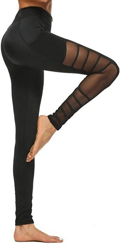 CJJCJJ Leggings da Yoga a Vita Alta Pantaloni Aderenti da Allenamento da Donna a Quadri Scozzesi Traspiranti