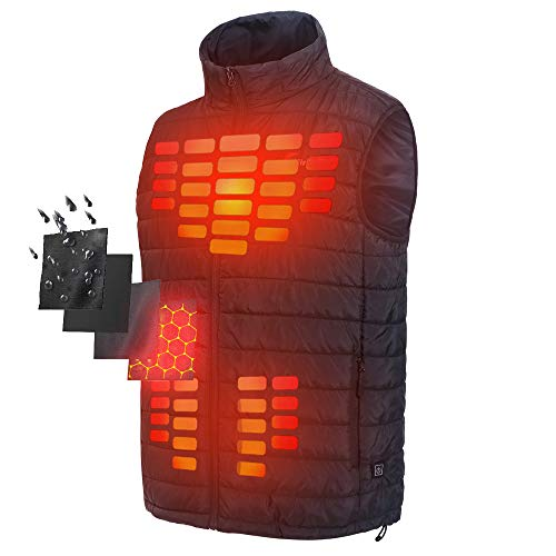 Firefox Heated Vest Casual Lightweight Heated Jacket Heating Clothing Electric Warm Vest ()