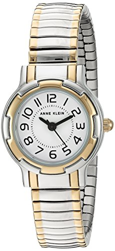 Anne Klein Women's AK/2341WTTT Two-Tone Expansion Band Watch