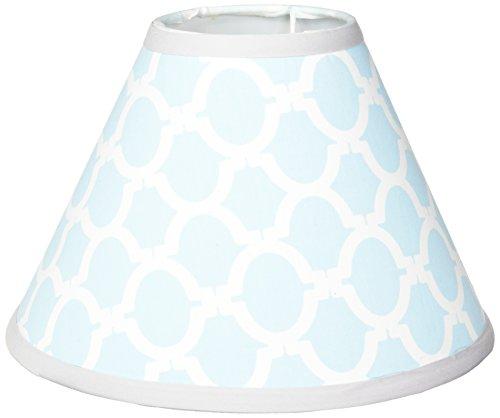 GEENNY Lamp Shade, Glacier Blue & Gray -