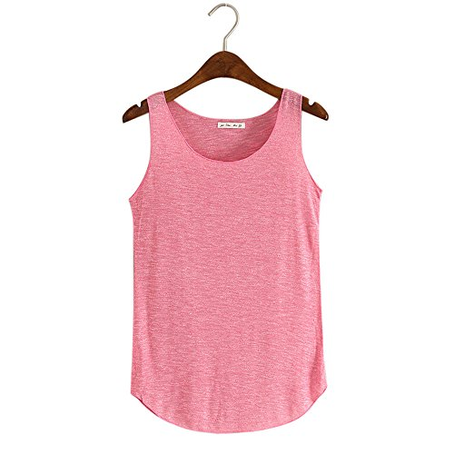 Sanyyanlsy Women's Soft and Comfortable Bamboo Cotton Slim Fashion Round Neck Vest Hot ()