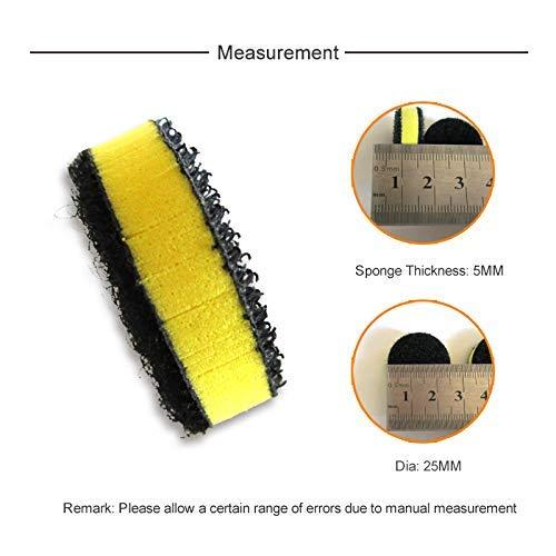 Pack of 10 EVA Hard Sponge Interface Pad 1 Inch 25mm Hook and Loop Power Tools Accessories