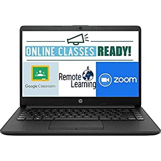 "HP 14 14"" Laptop Computer, AMD Athlon Silver 3050U Up to 3.2GHz (Beat i3-7130u), 4GB DDR4 RAM, 128GB SSD, Online Class Ready, Black, Windows 10 Home S, iPuzzle MousePad"