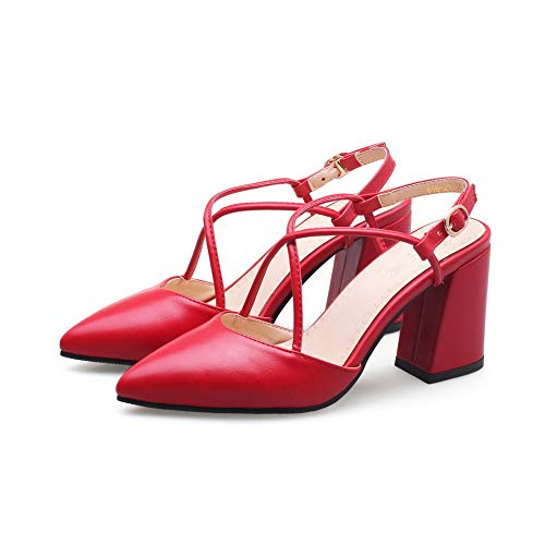 Sandali 35 EYR00220 con Rosso Zeppa Aimint Donna Red 75aqxB5wC