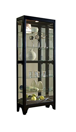 Pulaski Curio, 30 by 13 by 76-Inch, Black (China Curio Display Cabinet)