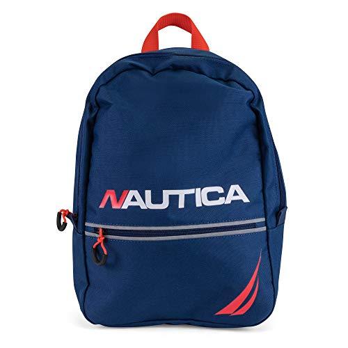 Nautica Little Tonal Zip Mini Backpack for Kids, blue One Size