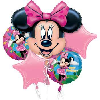 Mayflower Products Minnie Mouse Mylar Balloon Bouquet (each) - Party Supplies ()