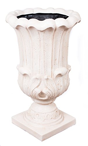 BirdRock Garden Melodia Urn - Aged White | Indoor Outdoor Planter Urn by BirdRock Home