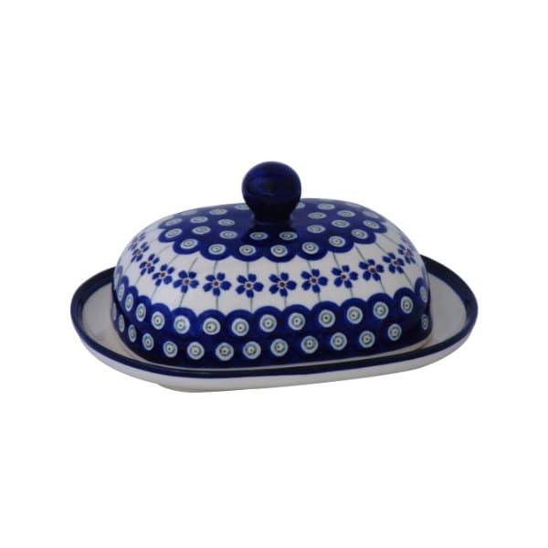 Bunzlauer Keramik Beurrier ovale Motif 166a