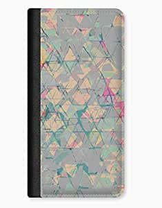 Blue Cloth Pattern iPhone 5c Leather Flip Case