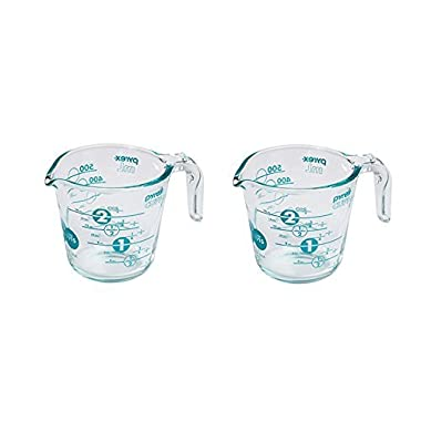 Pyrex 100 Year 2 Cup Anniversary Measuring Cup, Turquoise (Set Of 2)
