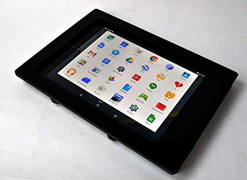 Nexus 9 Black Acrylic VESA Security Enclosure with Wall Mount Kit