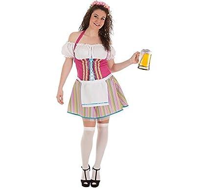 Creaciones Llopis Disfraz de Tirolesa a Rayas para Mujer ...