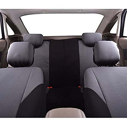 Amazon.com: CAR PASS - 11PCS E-Gray Universal E-Gray Automotive Seat Covers Set Package- Fit for Vehicles,Black and Gray With Composite Sponge Inside,Airbag ...