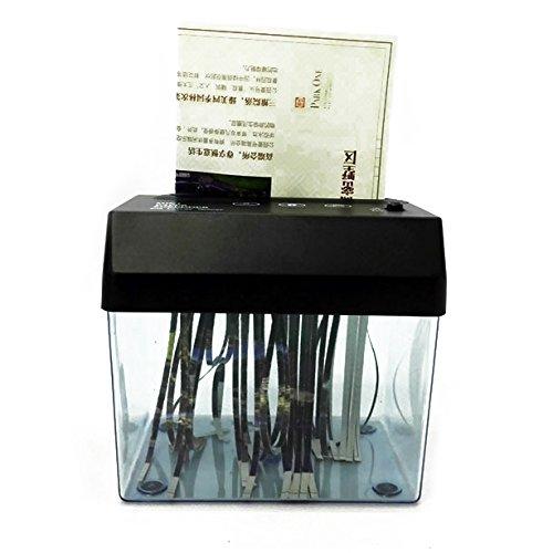 Luntus Papier de bureau A5 ou A4 plieMini-dechiqueteuse USB a bande decoupee Pour la maison//bureau