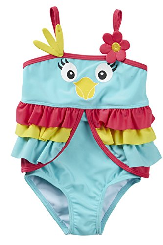 [BABYTOWN Baby Girls Animal Novelty Swimming Costume] (Parrot Infant Costumes)