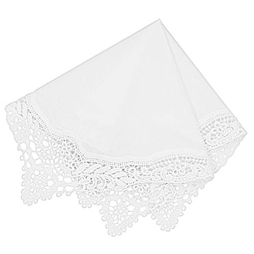 Milesky Bridal Wedding Crochet Lace Handkerchief premium 60S Cotton CH04