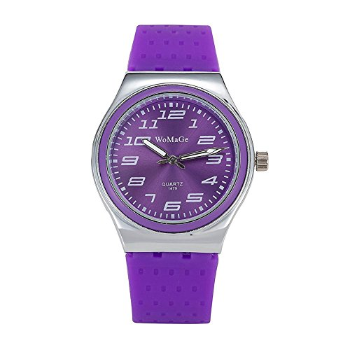 New Watch Design (Simple Sugar Color Casual Student Female Watch (Purple))