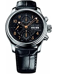 Louis Erard Mens 78269AA02.BDC02 Heritage Automatic Black Leather Chronograph Date Watch