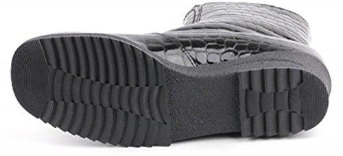 ara Women's 12-48103 Zermatt-ST Black Patent Croc Leather Ankle Boots 330 KwInTin5io