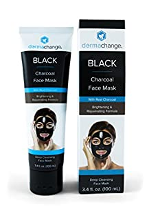 Vegan Charcoal Face Mask - Black Peel off Mask with Activated Charcoal - Tighten and Detox Your Facial Skin - For All Skin Types - For Men and Woman - Clean out your Pores and Remove Blackheads