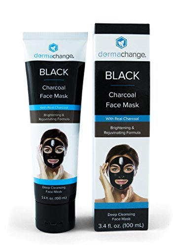 Charcoal Peel Off Face Mask - with Vegan & Activated Charcoal - Blackhead Remover & Pore Minimizer - Deep Cleansing Black Mask - Anti Aging & Acne Spot Treatment (3.4 oz)