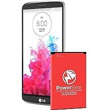 PowerBear LG G3 Battery (3000 mAh) Li-Ion Battery for the G3 [D852, D855, AT&T D850, T-Mobile D851, Verizon VS985, Spring LS990] | LGG3 Spare Battery [24 Month Warranty]