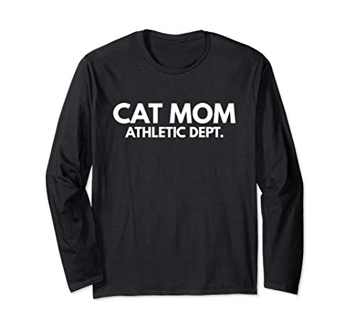 Cat Mom Athletic Dept T-Shirt - Cat Lover Gifts Tee ()