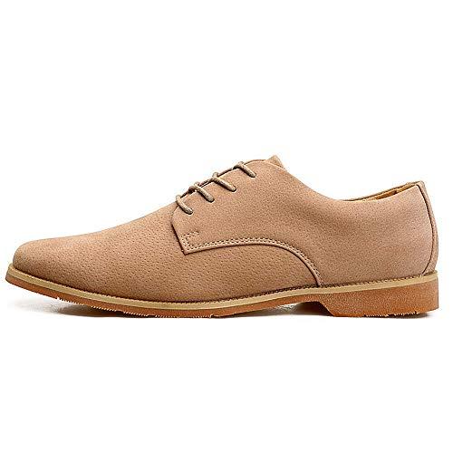 À couleur Kaki Hommes Shoes Unique Leisure Plat Eu Montré Oxford Chaussures Véritable Montré En Taille 2018 43 coloré Pour Cuir Comme Talon Taille Ow57Oq8