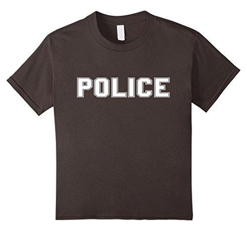 Diy Cop Costume For Kids (Kids Police Halloween Costume T Shirt 6 Asphalt)