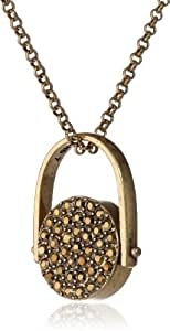 """Lucky Brand Gold-Tone Stone Pendant Necklace, 18"""""""