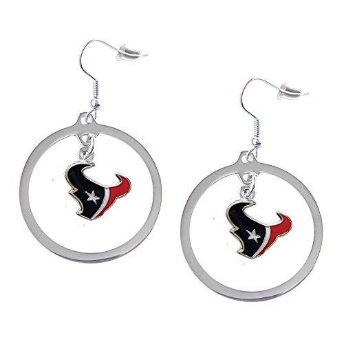 MISC NFL Houston Texans Earring Set Floating Logo Hoop Sports Football Earing Jewelry