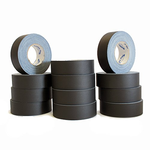 12 Rolls of Premium Professional Grade Gaffer Tape - 2 Inch x 55 Yards - Black Color - 12 Rolls/Case by It's a 10
