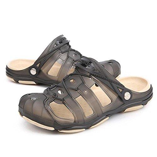 Black Zapatillas Playa para Al Zapatos Verano De Aire Libre Suaves Sandalias Hombres De BwOBCq7U