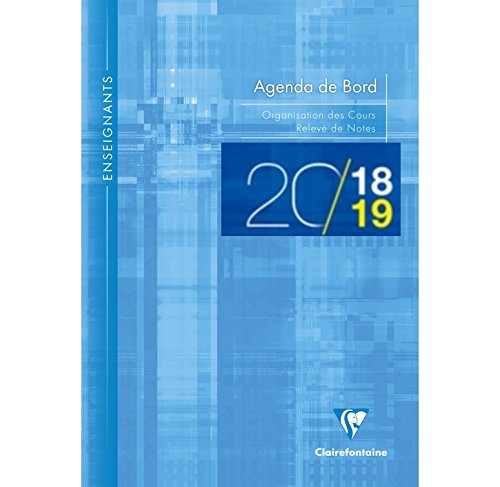Clairefontaine - 1 Agenda de bord Millesimé - Septembre 2018 à Septembre 2019 - 21x29.7 cm - Coloris Aléatoires 3099C