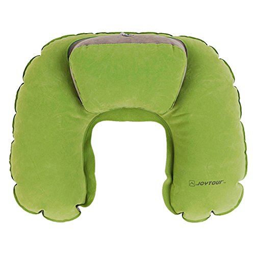 FromBi Help-Sleep Inflatable Automatic Filling Travel Camping Pillow (Green)