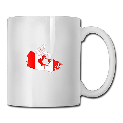 Fengyaojianzhu Flag Map Of Canada Mugs Personalized Ceramic Coffee Tea Cups Double-side Printing - Express Canada Shipping To Usps