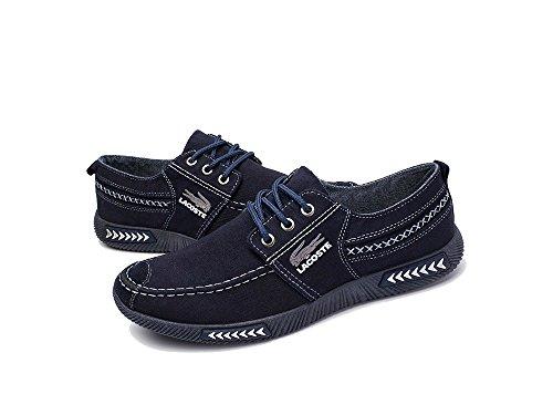42 Caqui de 41 Costura Mocasines 40 44 Azul 39 Hombre Talla Suela de 43 Gris Lona de B CN Color Elemento de Clásico Coser Zapatos Suave Planos Color de armada Super Goma aZxqYwIR