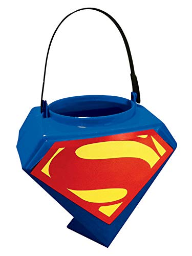 Rubies Superman Man of Steel Shield Logo Trick-or-Treat Pail]()