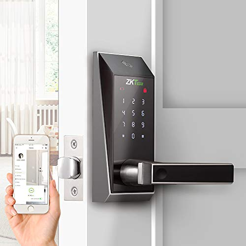 Bluetooth Enabled Keyless Keypad Door Lock Digital Electronic Smart Locks+5 pcs Mifare Cards with ZK Smart Key app. ()