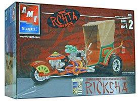 (#31922 AMT/Ertl George Barris' Wild Chinatown Express Ricksha 1/25 Scale Plastic Model Kit. Needs Assembly by AMT Ertl)