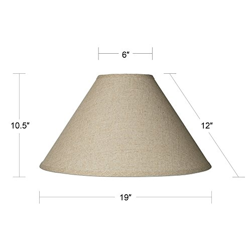 Fine Burlap Empire Shade 6x19x12 (Spider) by Brentwood (Image #4)
