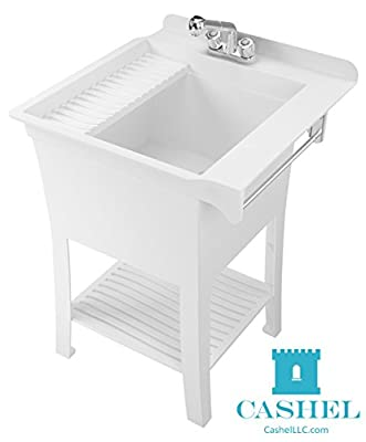 Cashel 1980-32-01 The Maddox Workstation - Fully Loaded Sink Kit, White