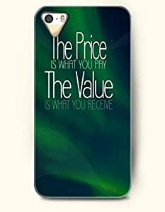 iPhone 4 4S Case OOFIT Phone Hard Case **NEW** Case with Design The Price Is What You Pry The Value Is What You Receive - Proverbs Of Life - Case for Apple iPhone 4/4s