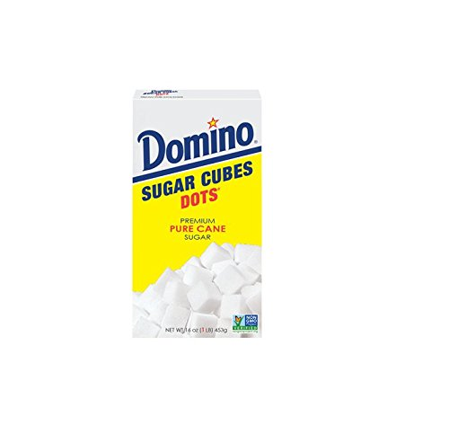 (Domino Premium Pure Cane Sugar Cubes Dots, 1 Pound Box )