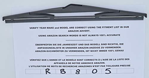 Limpiaparabrisas trasero de 30 cm con ajuste perfecto, modelo RB805: Amazon.es: Coche y moto