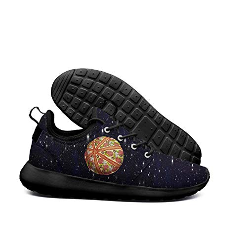 DEEEWKF Pizza planet fantasy space Womens 2018 Ultra Lighweight sneaker -