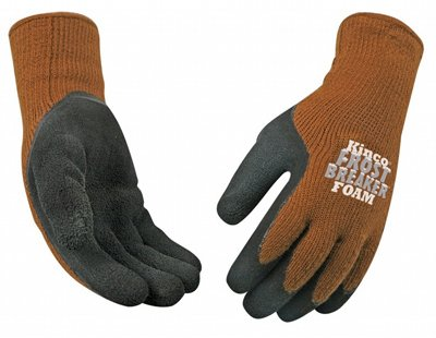 Kinco Warm Grip (Kinco International 1787-XL Frost Breaker Work Gloves, Thermal, Latex Palm, Brown Knit, XL - Quantity 6)